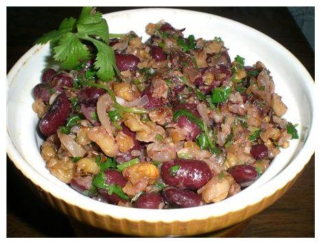 Красная фасоль с орехами по-грузински рецепт